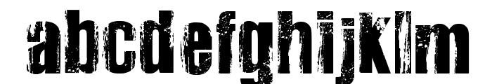 Very Damaged Bold Font LOWERCASE