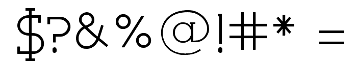 Very Fine Serif Font OTHER CHARS