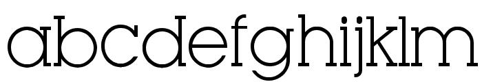 Very Fine Serif Font LOWERCASE