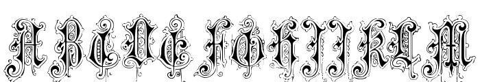 VerzierteFavorite Font UPPERCASE