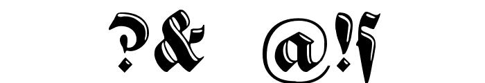 VerzierteSchwabacher Font OTHER CHARS