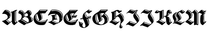 VerzierteSchwabacher Font UPPERCASE