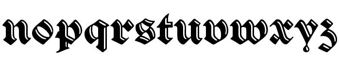 VerzierteSchwabacher Font LOWERCASE