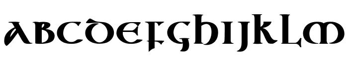 Vespasian-Bold Font LOWERCASE