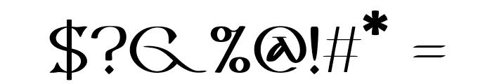 Vespasian-Medium Font OTHER CHARS