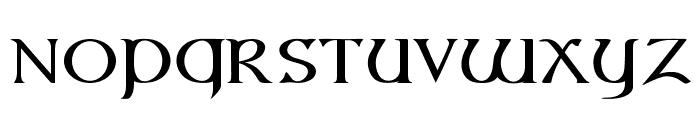 Vespasian-Medium Font LOWERCASE