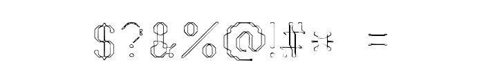 Vestige Font OTHER CHARS