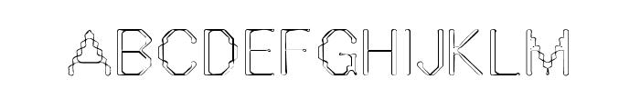 Vestige Font UPPERCASE