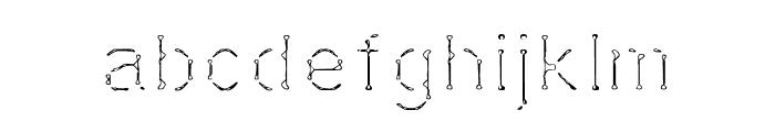 Vestige Font LOWERCASE