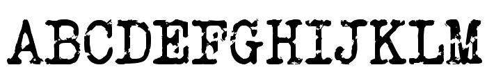 Veteran Typewriter Font UPPERCASE