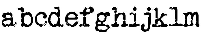 Veteran Typewriter Font LOWERCASE