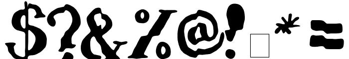 verrutscht Font OTHER CHARS