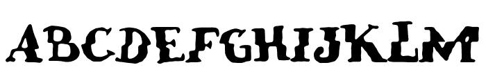 verrutscht Font UPPERCASE