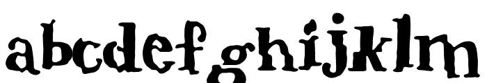 verrutscht Font LOWERCASE