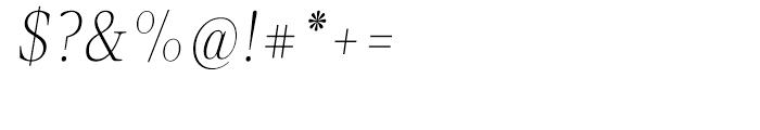 Velino Text Thin Italic Font OTHER CHARS
