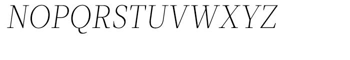 Velino Text Thin Italic Font UPPERCASE