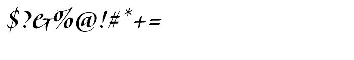 Veljovic Script Cyrillic Medium Font OTHER CHARS