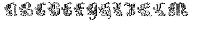 Velvet Gothic Regular Font UPPERCASE