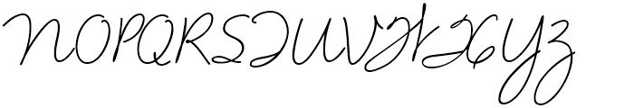 Velvet Script Regular Font UPPERCASE