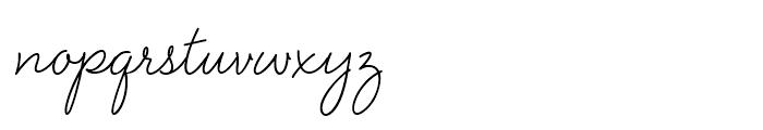 Velvet Script Regular Font LOWERCASE