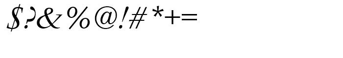 Vendme Regular Italic Font OTHER CHARS