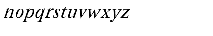 Vendme Regular Italic Font LOWERCASE