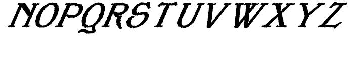 Veneribe Oblique Regular Font UPPERCASE