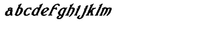 Veneribe Oblique Regular Font LOWERCASE