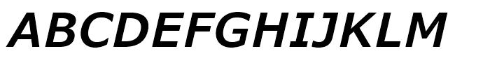 Verdana Pro SemiBold Italic Font UPPERCASE