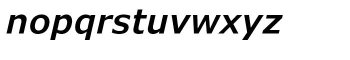 Verdana Pro SemiBold Italic Font LOWERCASE