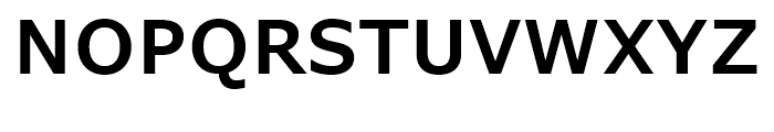 Verdana Pro SemiBold Font UPPERCASE