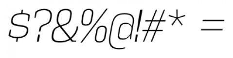 Vectipede ExtraLight Italic Font OTHER CHARS