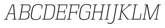 Vectipede ExtraLight Italic Font UPPERCASE