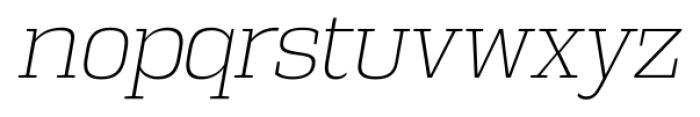 Vectipede ExtraLight Italic Font LOWERCASE