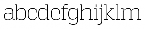 Vectipede ExtraLight Font LOWERCASE