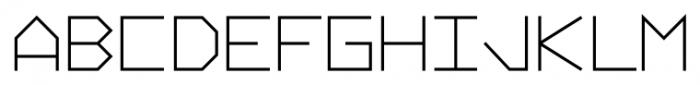 Vektori NarrowBold Font UPPERCASE