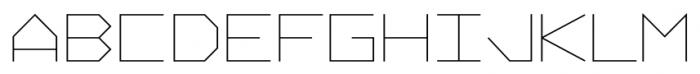 Vektori Regular Font UPPERCASE