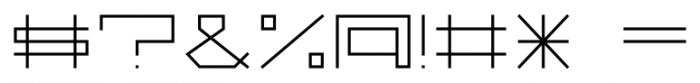 Vektori WideBold Font OTHER CHARS