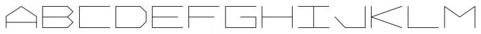 Vektori Wide Font LOWERCASE