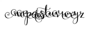 Velvet Berries Left Font LOWERCASE
