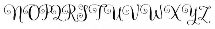 Velvet Berries Regular Font UPPERCASE