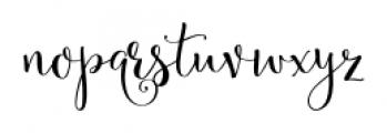 Velvet Berries Regular Font LOWERCASE