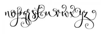 Velvet Berries Right Font LOWERCASE