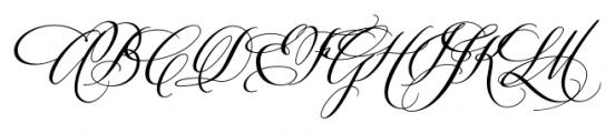 Velvet Hammer Regular Font UPPERCASE