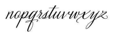 Velvet Hammer Regular Font LOWERCASE
