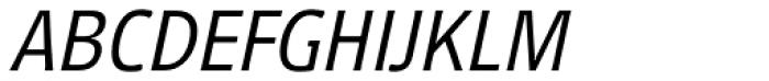 Vecta DT Light Italic Font UPPERCASE