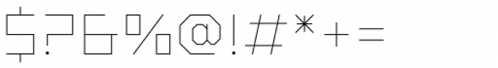 Vector Font OTHER CHARS