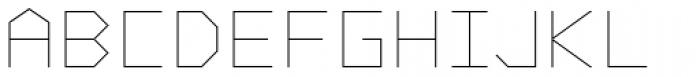 Vector Font UPPERCASE