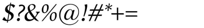 Vega Antikva Italic Font OTHER CHARS