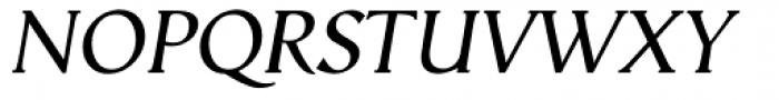 Vega Antikva Italic Font UPPERCASE